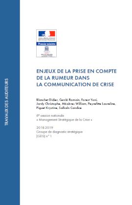 Couverture GDS rumeur en com de crise 2019